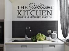 PERSONALISED Family Kitchen Wall Art Quote, Wall Sticker, Decal